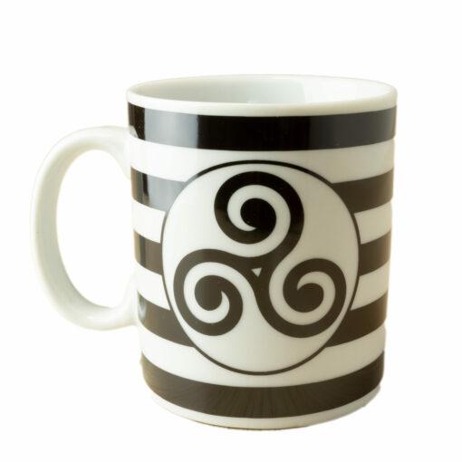 Tasse | Mug Triskell sur fond rayé